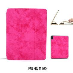 Apple iPad Pro 11 inch Hot Pink Book Case Tablethoes Smart Case - Marmer - Kunstleer