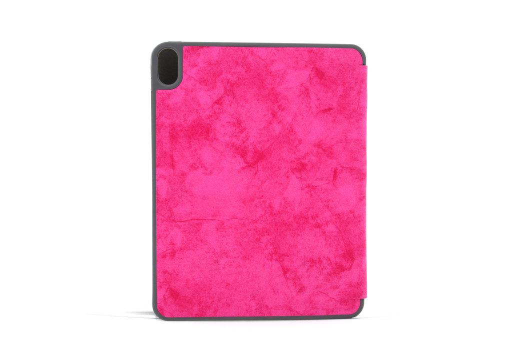 Andere merken Apple iPad Pro 11 inch Hot Pink Book Case Tablethoes Smart Case - Marmer - Kunstleer