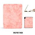 Andere merken Apple iPad Pro 11 inch Roze Book Case Tablethoes Smart Case - Marmer - Kunstleer