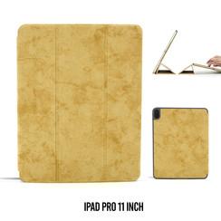 Apple iPad Pro 11 inch Bruin Book Case Tablethoes Smart Case - Marmer - Kunstleer