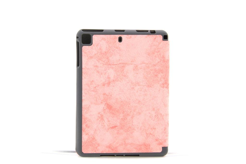 Andere merken Apple iPad Mini 5 Roze Book Case Tablethoes Smart Case - Marmer - Kunstleer