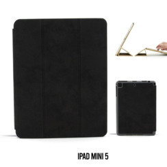 Apple iPad Mini 5 Zwart Book Case Tablethoes Smart Case - Marmer - Kunstleer