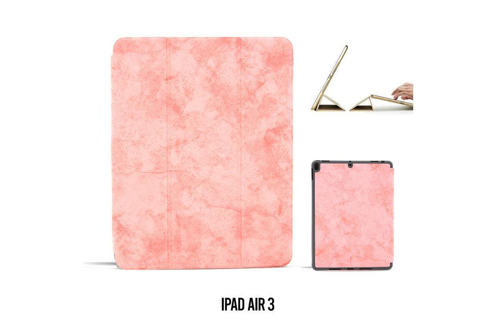 Andere merken Book case Tablet Apple iPad Air 3 Smart Case Pink for iPad Air 3 Marble