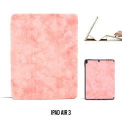 Apple iPad Air 3 Roze Book Case Tablethoes Smart Case - Marmer - Kunstleer