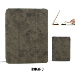 Apple iPad Air 3 Grijs Book Case Tablethoes Smart Case - Marmer - Kunstleer