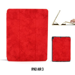 Apple iPad Air 3 Rood Book Case Tablethoes Smart Case - Marmer - Kunstleer