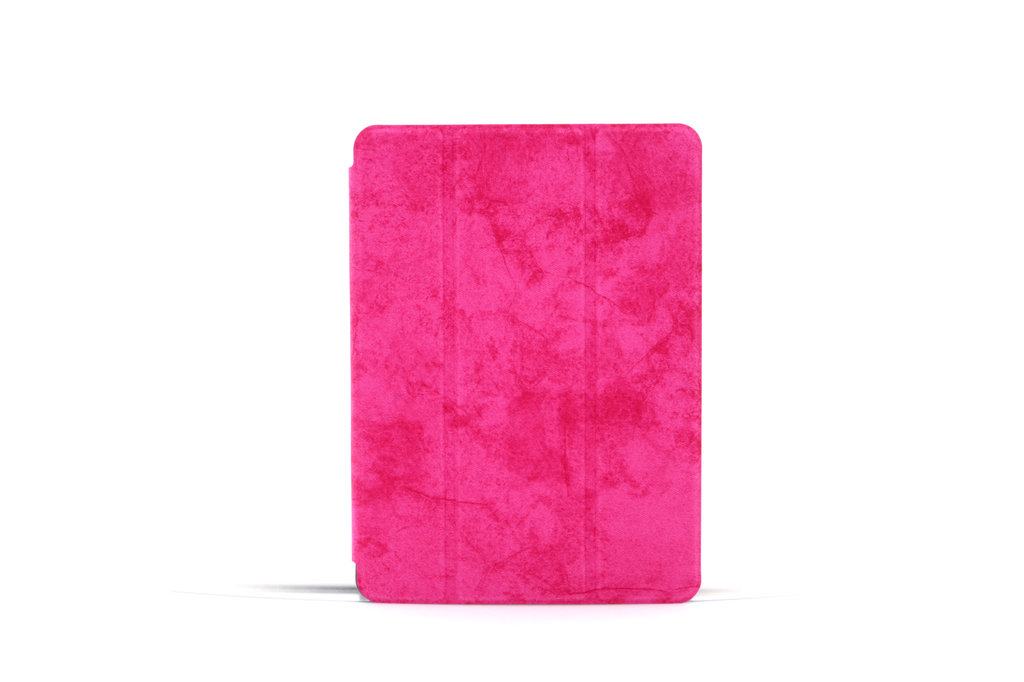 Andere merken Apple iPad Air 3 Hot Pink Book Case Tablethoes Smart Case - Marmer - Kunstleer