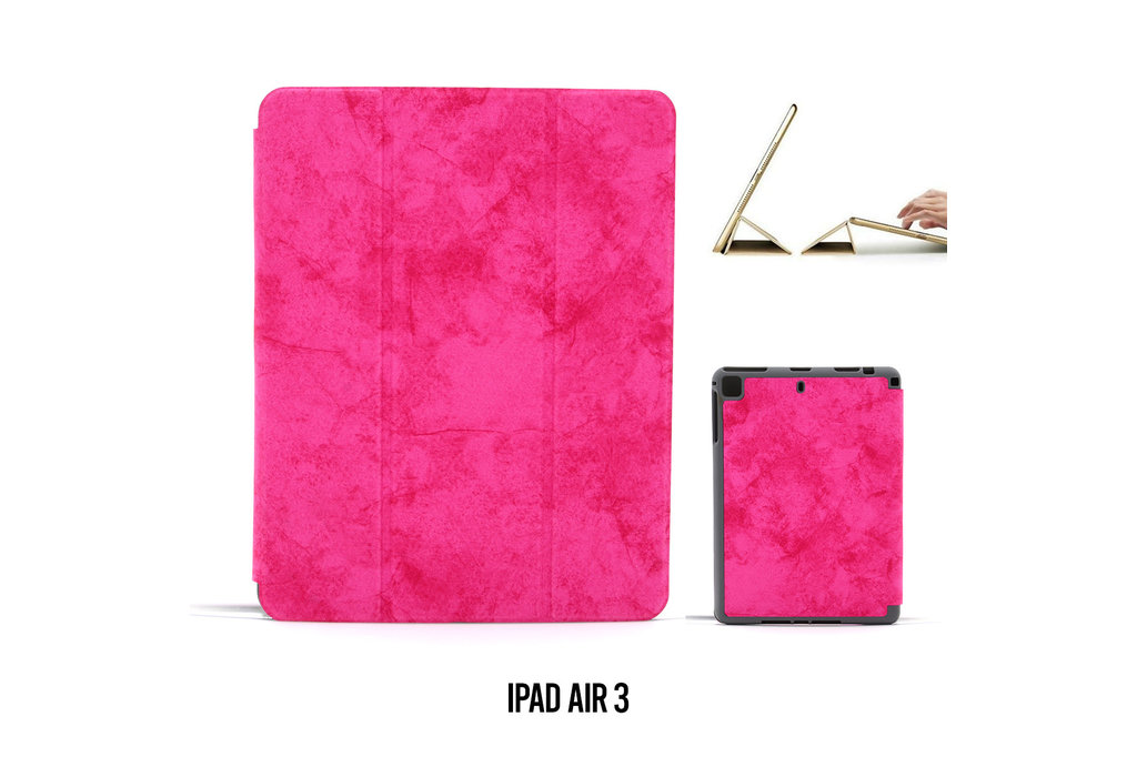 Andere merken Book case Tablet Apple iPad Air 3 Smart Case Hot Pink for iPad Air 3 Marble