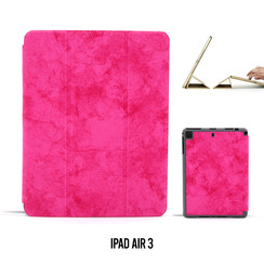 Apple iPad Air 3 Hot Pink Book Case Tablethoes Smart Case - Marmer - Kunstleer