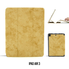 Apple iPad Air 3 Bruin Book Case Tablethoes Smart Case - Marmer - Kunstleer