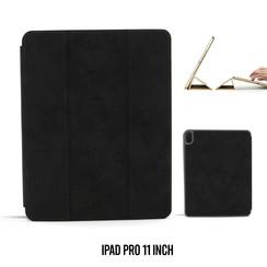 Apple iPad Pro 11 inch Zwart Book Case Tablethoes Smart Case - Marmer - Kunstleer
