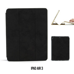 Apple iPad Air 3 Zwart Book Case Tablethoes Smart Case - Marmer - Kunstleer