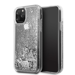 Apple iPhone 11 Pro Max Guess Back cover case Glitter Silver for iPhone 11 Pro Max Hearts