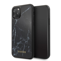 Apple iPhone 11 Pro Max Guess Back cover case Marble Collection Black for iPhone 11 Pro Max Hard