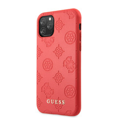 Apple iPhone 11 Pro Max Guess Back cover case 4G Peony Red for iPhone 11 Pro Max PU Leather