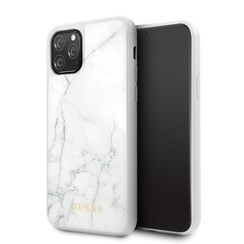 Apple iPhone 11 Pro Max Guess Back cover case Marble Collection White for iPhone 11 Pro Max Hard