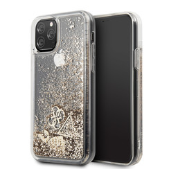 Apple iPhone 11 Pro Max Guess Back cover case Glitter Gold for iPhone 11 Pro Max Hearts