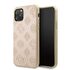 Apple iPhone 11 Pro Max Guess Back cover case 4G Peony Pink for iPhone 11 Pro Max PU Leather