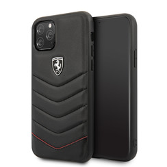 Apple iPhone 11 Pro Max Ferrari Back cover coque Quilted Noir - Hard