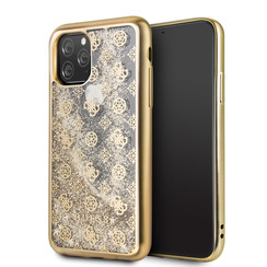 Apple iPhone 11 Pro Max Guess Back cover case Glitter Gold for iPhone 11 Pro Max 4G Peony