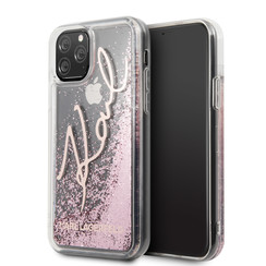 Apple iPhone 11 Pro Karl Lagerfeld Back cover case Glitter Rose Gold for iPhone 11 Pro Signature