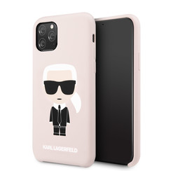 Apple iPhone 11 Pro Karl Lagerfeld Back-Cover hul Body Iconic Pink -Body - TPU;kunstleder