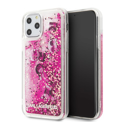 Apple iPhone 11 Pro Karl Lagerfeld Back cover case Glitter Rose Gold for iPhone 11 Pro Floating Charms