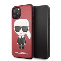 Apple iPhone 11 Pro Max Karl Lagerfeld Back-Cover hul Ikonik Karl Rot -Full Body - TPU;kunstleder