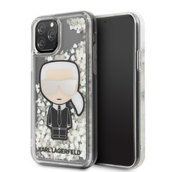 Apple iPhone 11 Pro Max Karl Lagerfeld Back cover case Glitter Grey for iPhone 11 Pro Max Ikonik Mirror