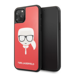 Apple iPhone 11 Pro Max Karl Lagerfeld Back cover case Glitter Red for iPhone 11 Pro Max Signature