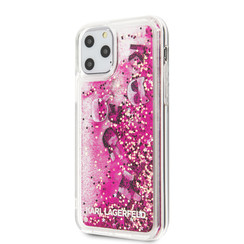 Apple iPhone 11 Pro Max Karl Lagerfeld Back cover case Glitter Rose Gold for iPhone 11 Pro Max Floating Charms