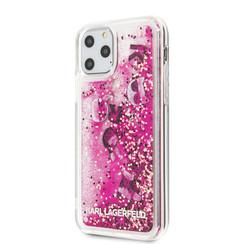 Apple iPhone 11 Pro Max Karl Lagerfeld Back-Cover hul Glitter Rose Gold -Floating Charms - TPU;kunstleder