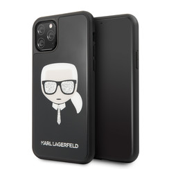 Apple iPhone 11 Pro Max Karl Lagerfeld Back cover case Glitter Black for iPhone 11 Pro Max Signature
