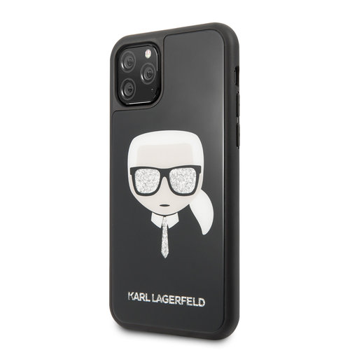 Karl Lagerfeld Apple iPhone 11 Pro Max Karl Lagerfeld Back cover coque Glitter Noir - Signature