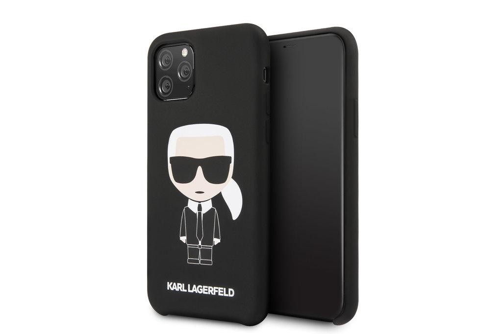 Karl Lagerfeld Apple iPhone 11 Pro Max Zwart Karl Lagerfeld Backcover hoesje Iconic - Full Body - KLHCN65SLFKBK
