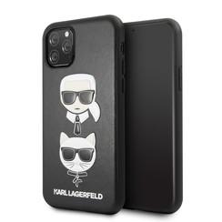 Apple iPhone 11 Pro Max Karl Lagerfeld Back-Cover hul Choupette Schwarz -Embossed - TPU;kunstleder