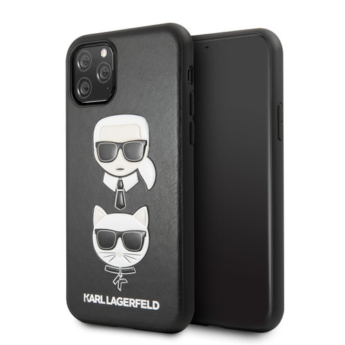 Karl Lagerfeld Apple iPhone 11 Pro Max Karl Lagerfeld Back cover coque Choupette Noir - Embossed