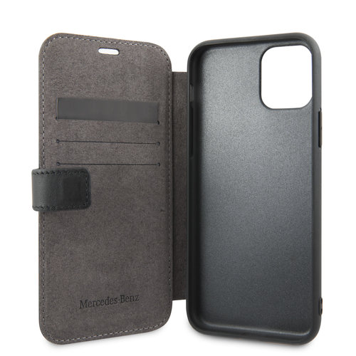 Mercedes-Benz Apple iPhone 11 Pro Mercedes-Benz Book type case Quilted Perf Black for iPhone 11 Pro Genuine Leather