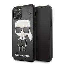 Apple iPhone 11 Pro Max Karl Lagerfeld Back-Cover hul Ikonik Karl Schwarz -Full Body - TPU;kunstleder