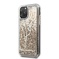 Karl Lagerfeld Apple iPhone 11 Pro Max Karl Lagerfeld Back cover coque Glitter Or - Signature