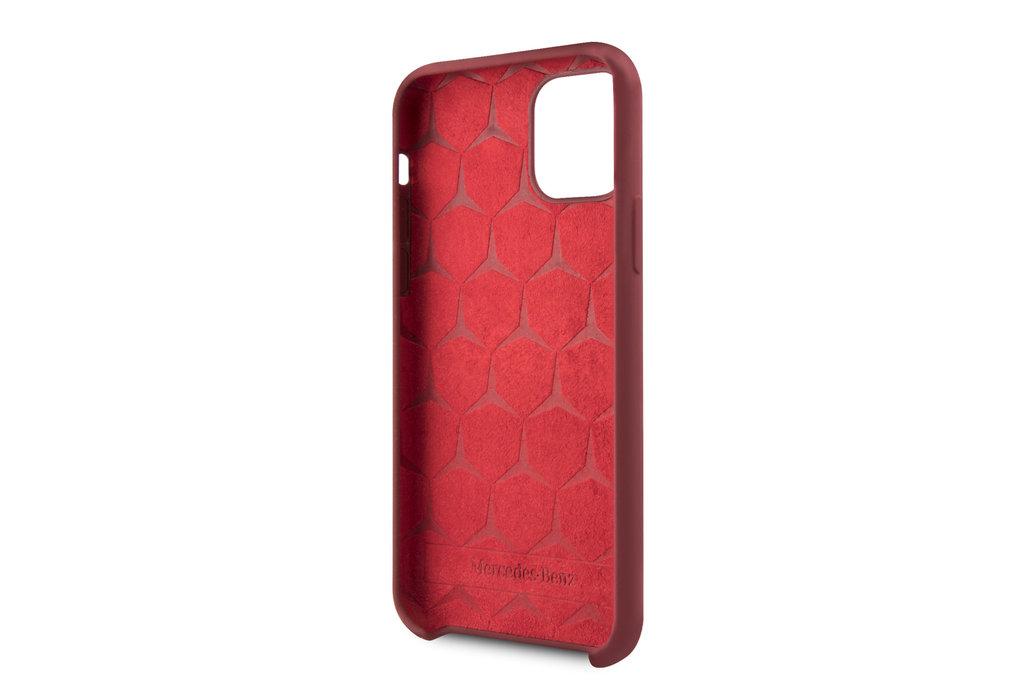 Mercedes-Benz Apple iPhone 11 Pro Mercedes-Benz Back cover coque Liquid Rouge - Microfiber