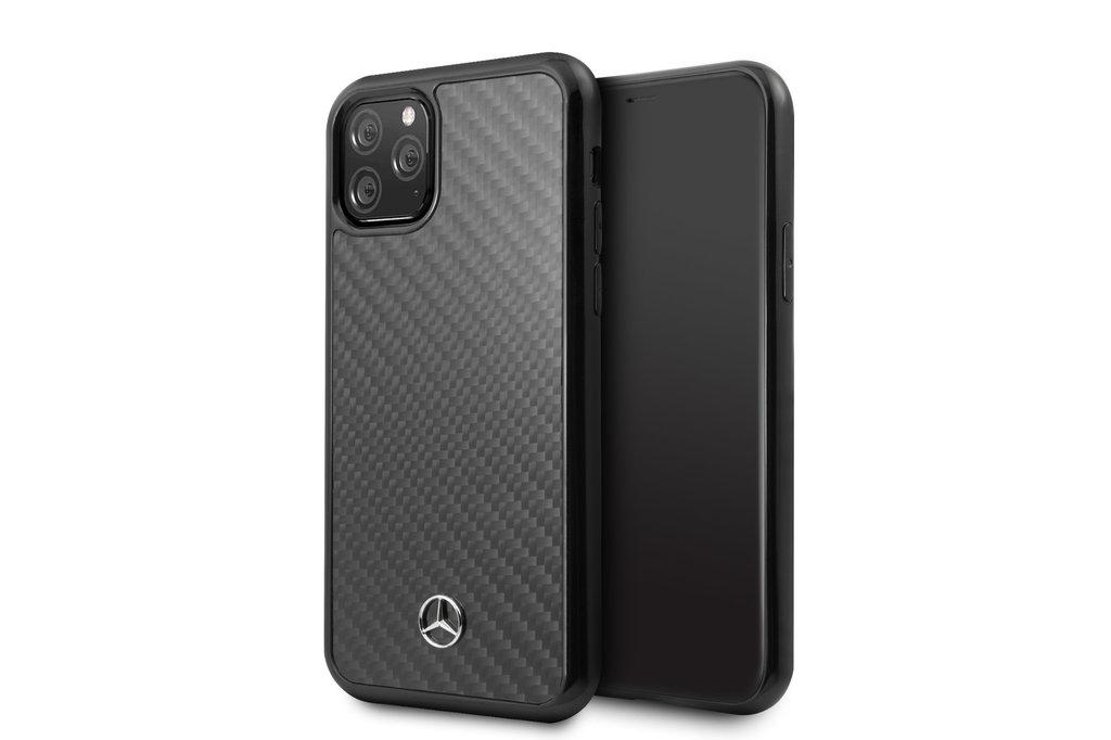 Mercedes-Benz Apple iPhone 11 Pro Zwart Mercedes-Benz Backcover hoesje Carbon Fiber - Dynamic - MEHCN58RCABK