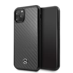 Apple iPhone 11 Pro Max Mercedes-Benz Back-Cover hul Carbon fiber Schwarz -Carbon - TPU;kunstleder
