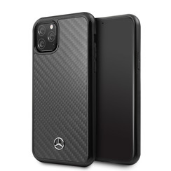 Apple iPhone 11 Pro Max Zwart Mercedes-Benz Backcover hoesje Carbon Fiber - Carbon - MEHCN65RCABK