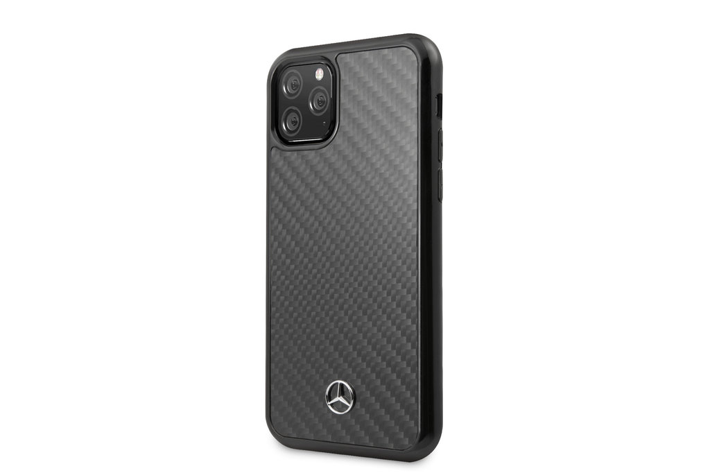 Mercedes-Benz Apple iPhone 11 Pro Max Mercedes-Benz Back cover coque Carbon fiber Noir - Carbon