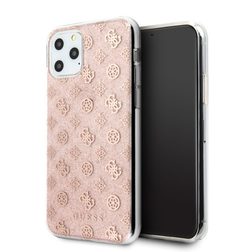 Guess Apple iPhone 11 Pro Max Guess Back cover case Glitter Pink for iPhone 11 Pro Max 4G Peony