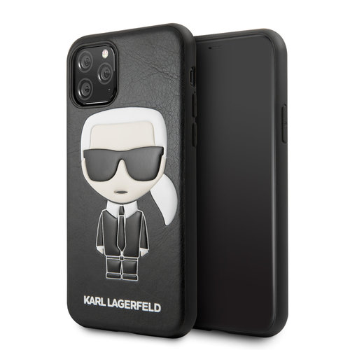 Karl Lagerfeld Apple iPhone 11 Pro Max Karl Lagerfeld Back cover coque Ikonik Karl Noir - Full Body