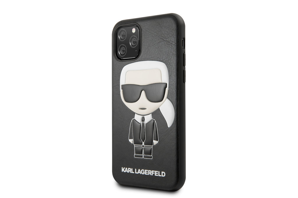 Karl Lagerfeld Apple iPhone 11 Pro Max Karl Lagerfeld Back cover case Ikonik Karl Black for iPhone 11 Pro Max Full Body
