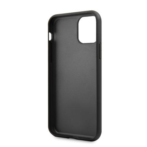 Karl Lagerfeld Apple iPhone 11 Pro Max Zwart Karl Lagerfeld Backcover hoesje Ikonik Karl - Full Body - KLHCN65IKPUBK