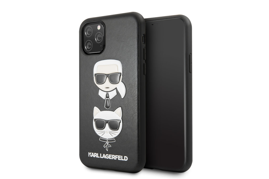 Karl Lagerfeld Apple iPhone 11 Pro Max Karl Lagerfeld Back cover case Choupette Black for iPhone 11 Pro Max Embossed